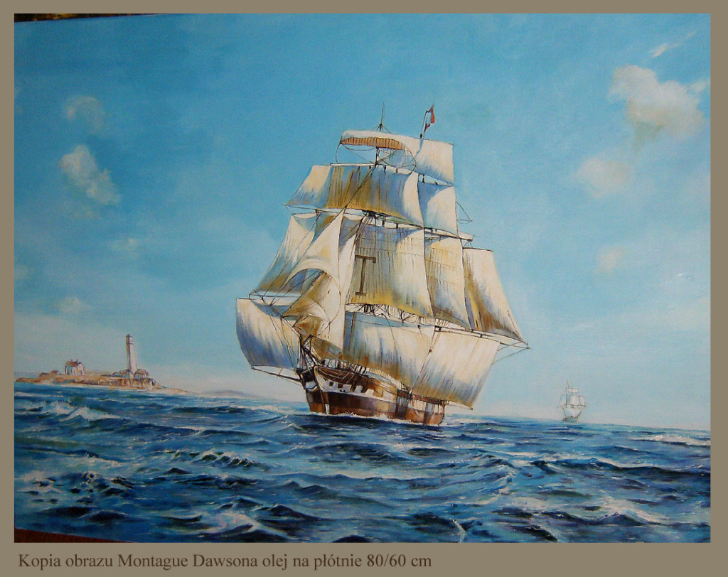 Kopia obrazu Montague Dawsona olej na płótnie 80/60 cm