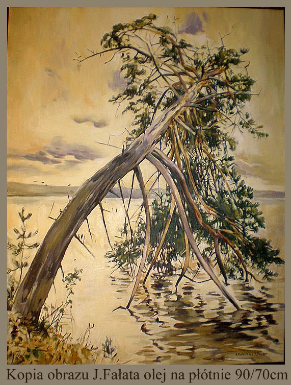 Kopia obrazu Juliana Fałata 90/70 cm olej na płótnie