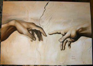 Kopia fragmentu fresku Michała Anioła