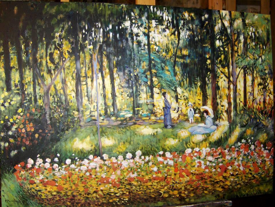 Kopia obrazu Claude Monet olej na płótnie 90/60 cm