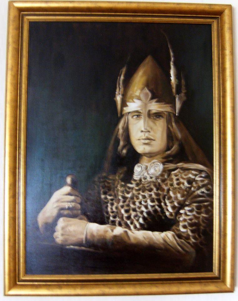 """Portret - Jan Tesarz w dramacie """"Balladyna"""" olej na płótnie 80/60"""