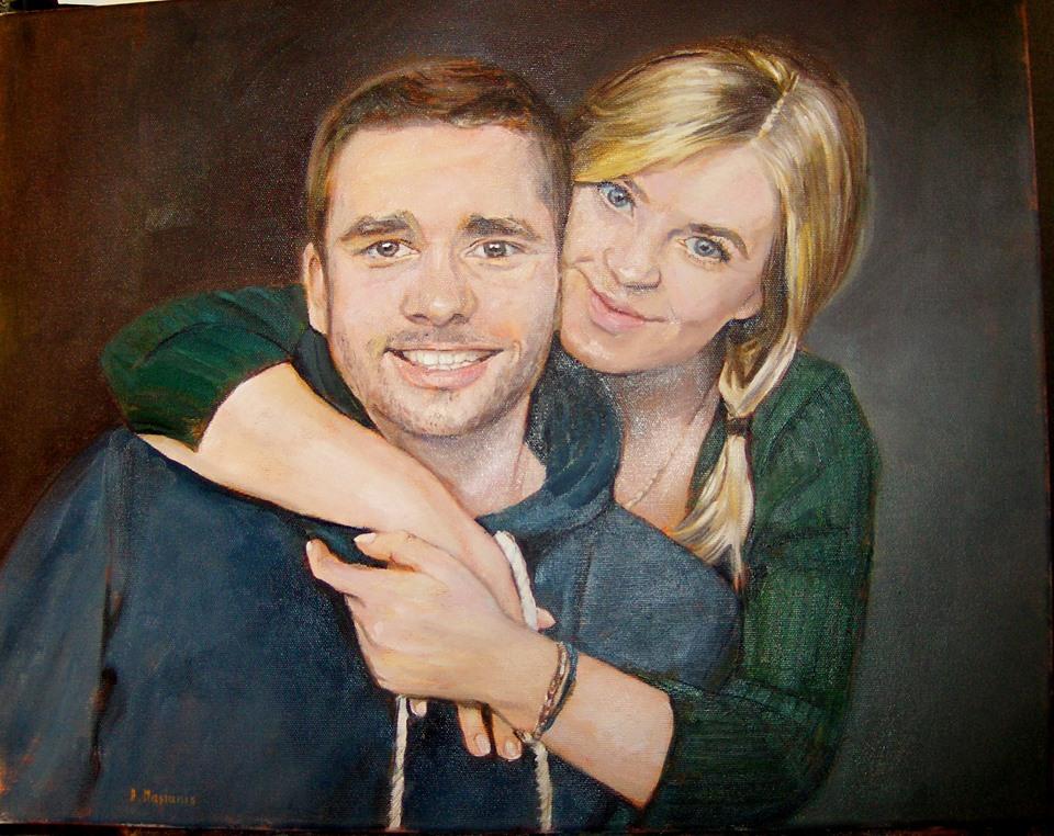 portret olej na płótnie 40/50 cm