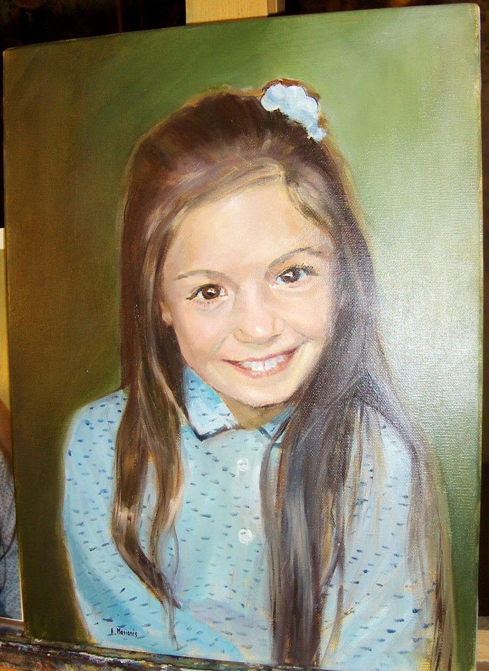 portret olej na płótnie 40/30 cm