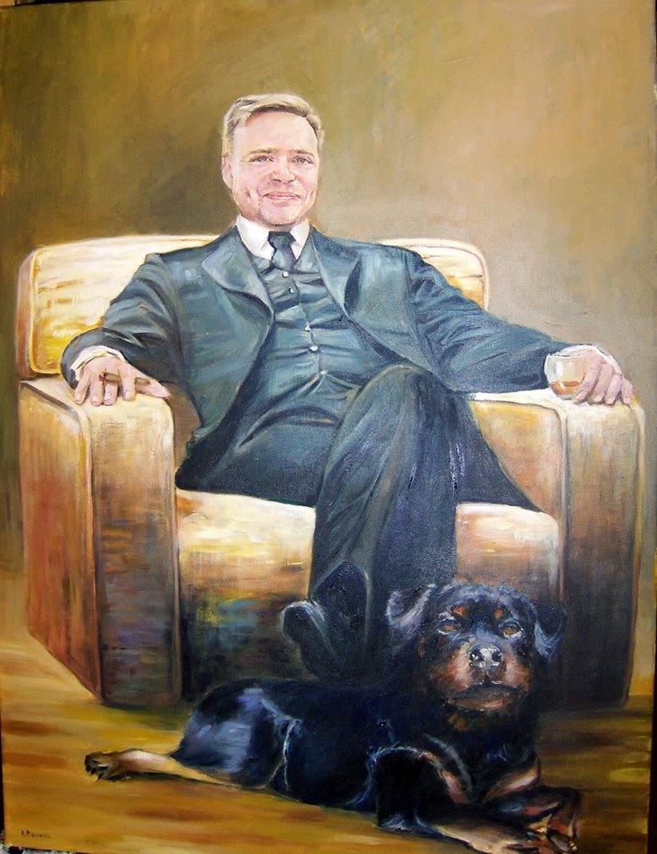 portret olej na płótnie 80/60 cm