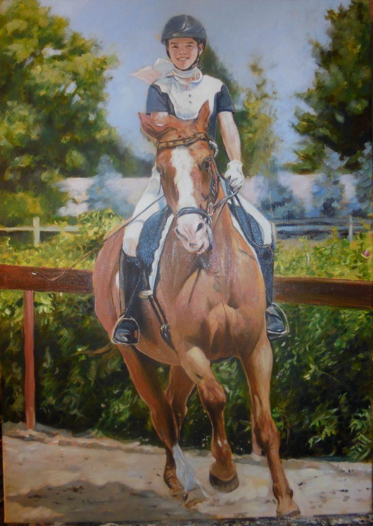 portret olej na płótnie 70/50 cm