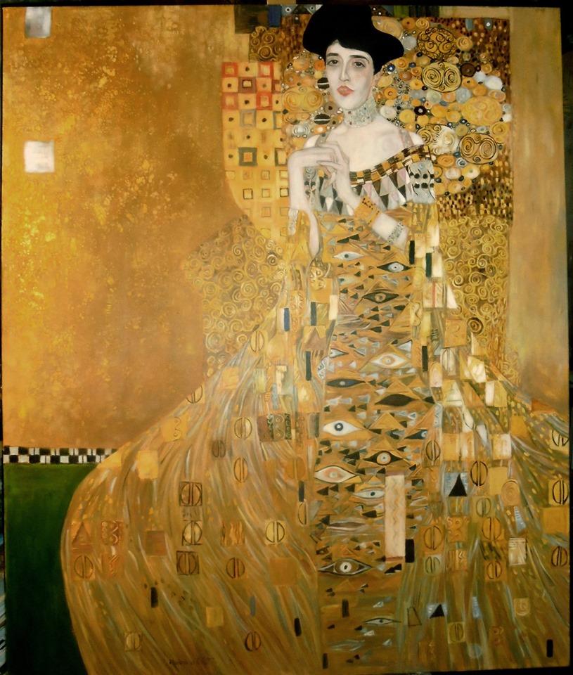 Kopia obrazu G.Klimta Portret Adele Bloch Bauer olej na płótnie 120/90 cm