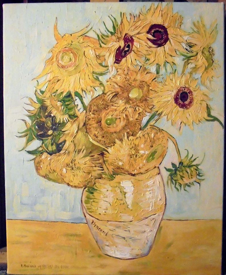 """Kopia obrazu Vincentego van Gogha """"Słoneczniki""""olej na płótnie 50/40 cm"""