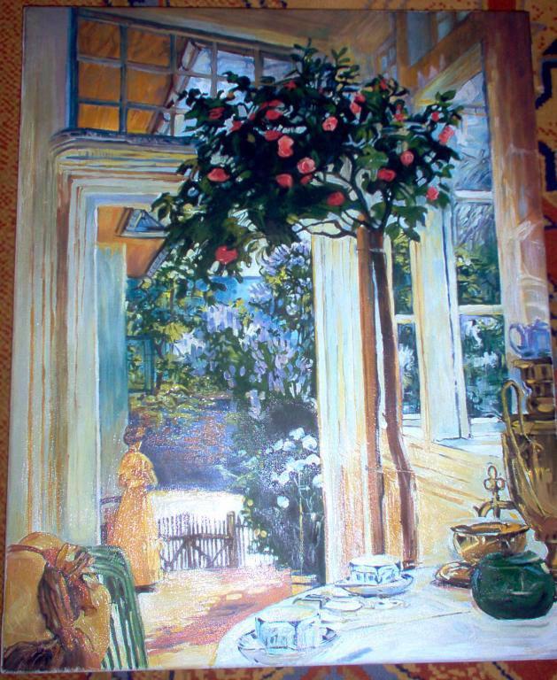 """Kopia obrazu J.Mehoffera """"Majowe słońce""""olej na płotnie 50/40 cm"""