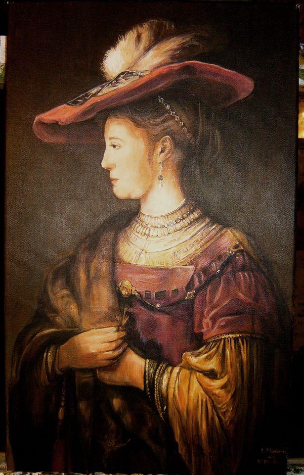 Kopia obrazu Rembrandta olej na płótnie 60/40 cm
