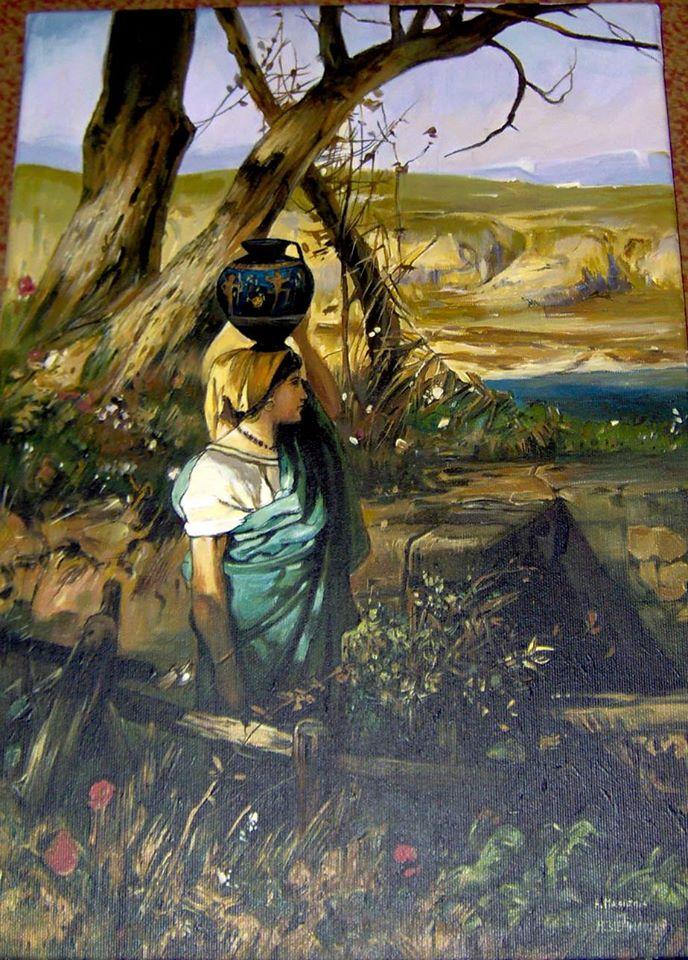 Kopia obrazu Henryka Siemiradzkiego  olej na płótnie 60/40 cm