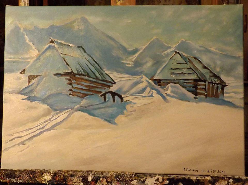 Kopia obraz A.Terleckiego  53/38 cm olej na płótnie