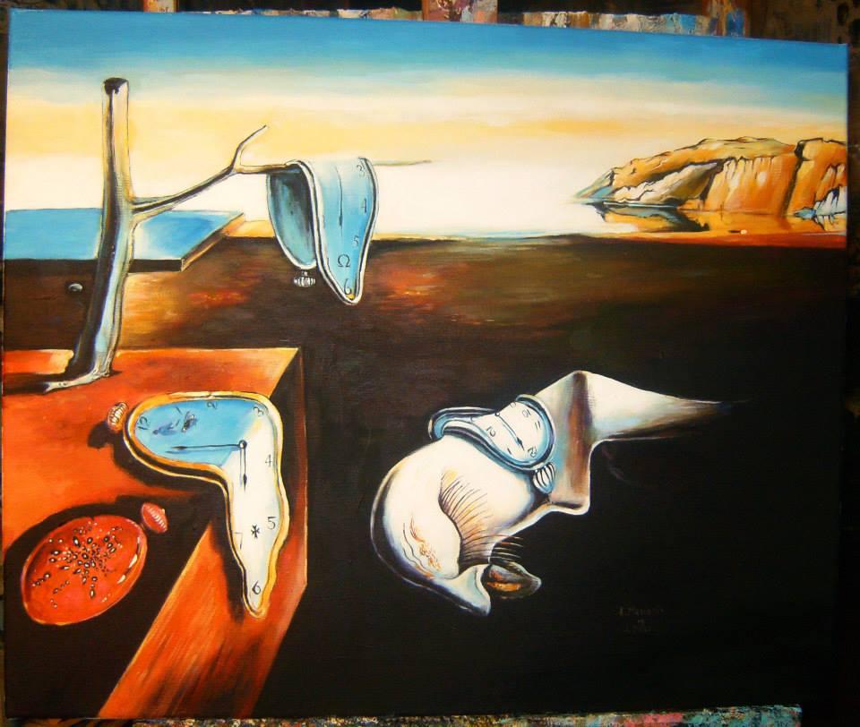 """Kopia obrazu Salwadora Dali """"Trwałość pamięci"""" 70/50 cm olej na płótnie"""